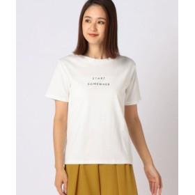 (MEW'S REFINED CLOTHES/ミューズ リファインド クローズ)STARTロゴTシャツ/レディース シロ