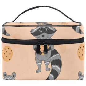 メイクボックス 滑稽熊柄 化粧ポーチ 化粧品 化粧道具 小物入れ メイクブラシバッグ 大容量 旅行用 収納ケース