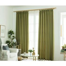 カーテン窓カーテンシェードクロスガーゼベッドルームシェーディングクロスプリーツブラインドブラックアウトカーテン、リビングルームバルコニー寝室装飾窓 (色 : A3, サイズ さいず : 1W2.0H2.7M)