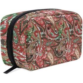 ペイズリー 美容製品 化粧品のバッグ 女性 洗顔料 スキンケア 電子製品 アクセサリー ポータブル 整理バッグ用女の子 Beautiful Colorful Paisley