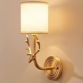 どのように- 壁掛けライト @ アンチグレア 田舎風 ウォールランプ ベッドルーム メタル ウォールライト 40W:青銅色