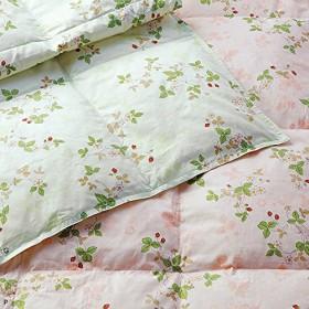 東京西川 ウォッシャブル 羽毛肌掛けふとん ウェッジウッド シングル 日本製 (ピンク)