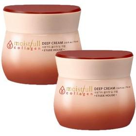 エチュードハウス水分いっぱいコラーゲンディープクリーム 75mlx2本セット韓国コスメ、Etude House Moistfull Collagen Deep Cream 75ml x 2ea Set Korean Cosmetics [並行輸入品]