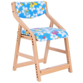 カフェチェア、レストランホテルベビーチェアハイスツールプリント生地シートカバー調節可能な木製ベンチ脚滑り止めマット (Color : #3)