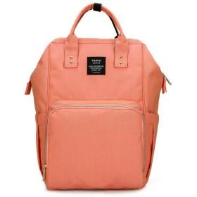 GZQ マザーズバッグ リュック ママバック 軽量 2way 大容量 多機能 出産お祝い 通勤 通学にも適用 (ピンク)