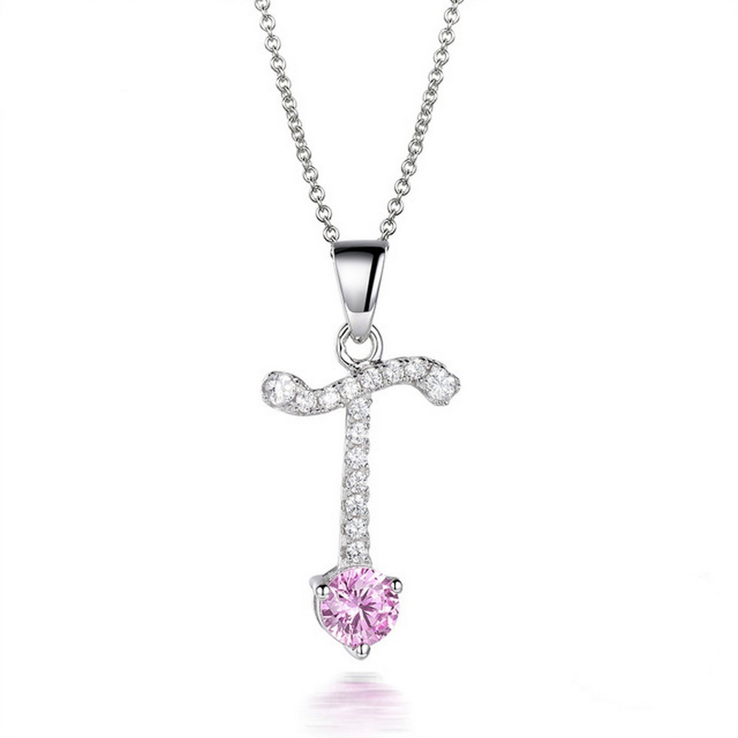 CS-DB Jewelry Silver Fashion White Pearls Chain Charm Pendants Necklaces