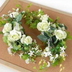 山久 ミントグリーンの バラ の スワッグ ゴム付 1008-7118-wed CT触媒加工 ウェルカムボード用 シルクフラワー 造花