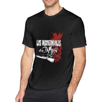大きいサイズ メンズ Tシャツ 半袖 ロス インゴベルナブレス デ ハポン ユニコーン プリント コットン 吸汗速乾 透けない インナーシャツ クルーネック ファッション プレゼント
