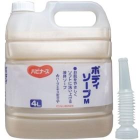 液体ソープ ボディソープ 風呂 石ケン お肌をやさしくソフトに洗い上げる!業務用 4L