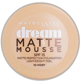 Maybelline Dream Matte Mousse Foundation 10 Ivory 10ml - メイベリン夢マットムース土台10アイボリー10ミリリットル [並行輸入品]