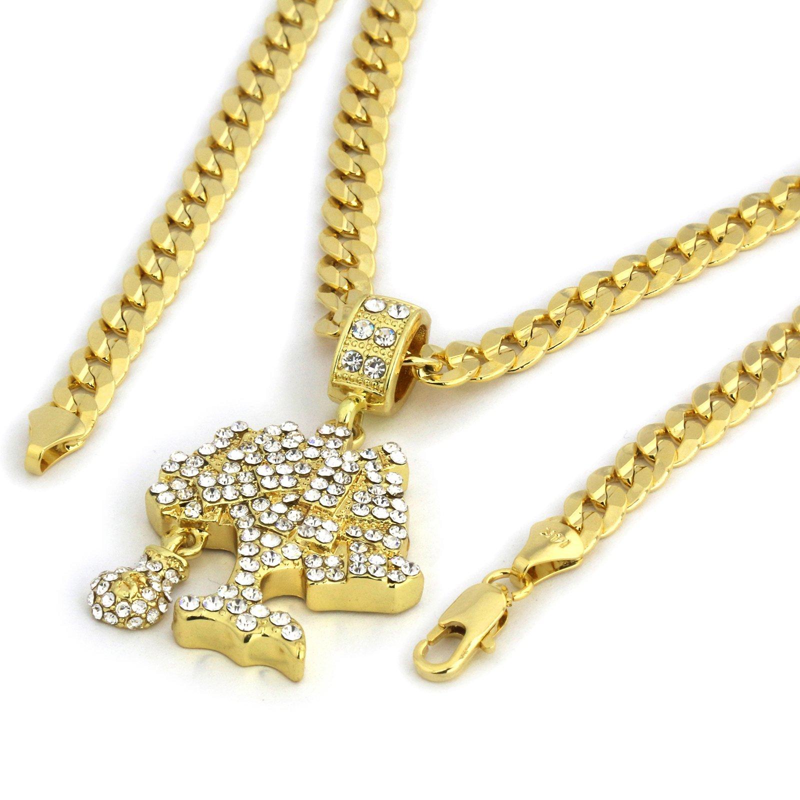 Jewel Town Womens Ruby /& Ankh Bundle Set Cz Pendant Hip Hop 20 /& 24 Rope Chain D241