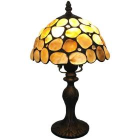 品質 ティファニースタイルベッドサイドテーブルランプ、クリエイティブガラスベッドルームライト、ジュエル付きデザインシェード付きリビング