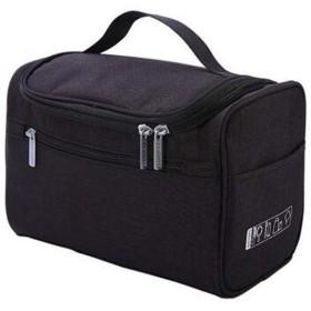 大容量レディースハンドバッグ、旅行用ポータブルウォッシュバッグ、防水性とウェアラブルポータブルクラッチ(ブラック、ブルー、グレー、パープル、レッド、ライトブルー) (Color : Black)