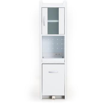 LOWYA 食器棚 キッチン収納 収納 おしゃれ 幅32.5cm ミドルタイプ ホワイト