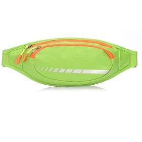 Kainuoo 屋外ランニングベルト防水PUレザーウエストバッグセキュリティウエストポーチジョギングベルト携帯電話ポーチ用ウォーキングホリデーハイキングサイクリングランニング (Color : Green)