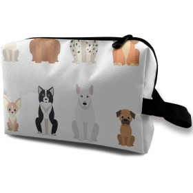 おとなしい犬たち 化粧バッグ 収納袋 女大容量 化粧品クラッチバッグ 収納 軽量 ウィンドジップ