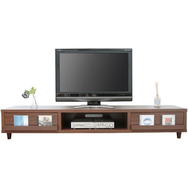LOWYA TVボード テレビ台 TV台 おしゃれ ローボード 50型 幅180cm ウォルナット