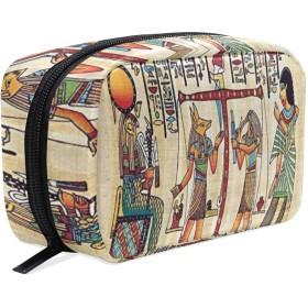 CW-Story エジプト装飾 女性の化粧ポーチ コスメケース 旅行 化粧品 収納 雑貨 小物入れ 出張用バック 超軽量 機能的 大容量