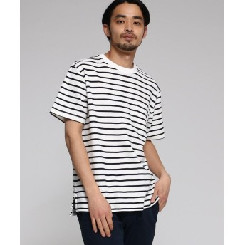 BASE CONTROL(ベースコントロール) 【WEB限定】 カノコ編立衿 BIG-Tシャツ