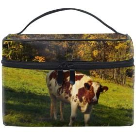 牛コスメバッグ 化粧ポーチ メイクバッグ ギフトプレゼント用 携帯可能