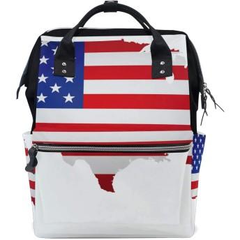 ママリュック 国旗 きれい ミイラバッグ デイパック レディース 大容量 多機能 旅行用 看護バッグ 耐久性 防水 収納 調整可能 リュックサック 男女兼用