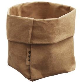 YCQ 化粧品オーガナイザー化粧ブラシカップホルダー旅行ポータブルクラフト紙袋 (Color : Brown)
