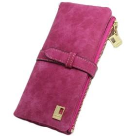 BOBIDYEE 女性のための女性のRFIDブロッキングサンディングレザーマルチカードオーガナイザー財布ファッションパッケージ (色 : レッド)