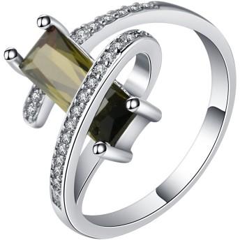 (トヨベイ)Toyobuy ファッション ジルコニア 925 シルバー 婚約指輪 ジュエリー アクセサリー 彼女 誕生日 記念日 プレゼント カジュアル パーティー バレンタインデー リング 米国サイズ 10号
