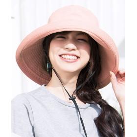 Sotia UVカット 帽子 レディース つば広 おしゃれ 可愛い ハット 紫外線対策 花粉対策 旅行用 防寒 日よけ 女優帽 小顔 UV対策 (ボタン・ピンク)