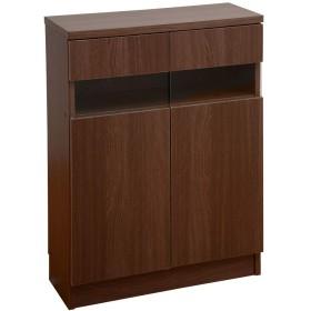 ワイエムワールド 食器棚 カウンター下収納 スリム 幅60 高さ85cm ブラウン 00-051