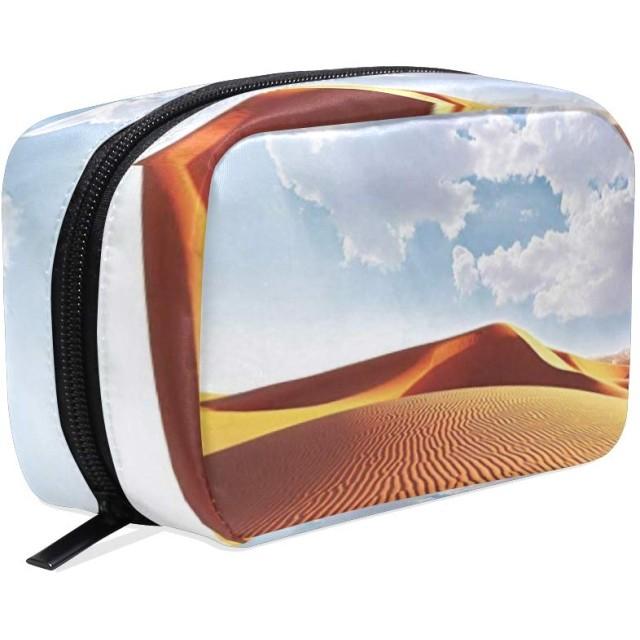 CW-Story 砂漠装飾 化粧ポーチ 化粧バッグ メイクボックス 収納ケース メイクブラシバッグ トイレタリーバッグ プロ用 小物入れ 化粧道具 大容量 旅行用