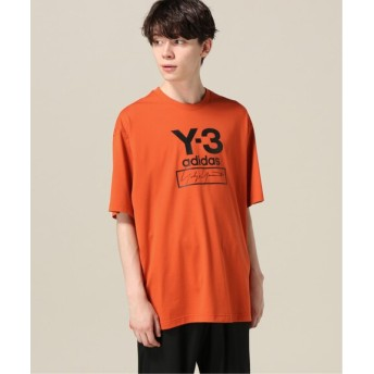 417 EDIFICE 【Y-3 / ワイスリー】 M STACKED LOGO ロングスリーブ TEE オレンジ A M