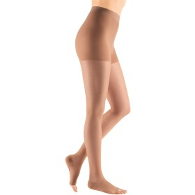 Mediven Sheer & Soft Women's OPEN TOE Pantyhose 20-30 mmHg Size: Size II (2) Standard, Color: Natural (0) by Medi