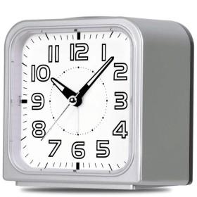 GAOLILI スタイリッシュなミュートアラーム時計ポータブルルミナスアラーム時計ベッドルームベッドサイドの小さな目覚まし時計 (色 : シルバー しるば゜)
