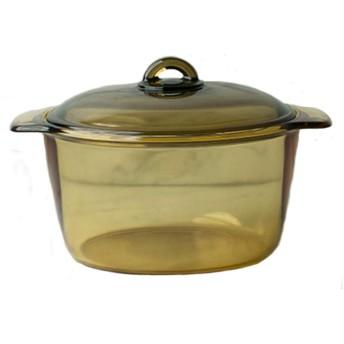 蓋付き5l 丸炊飯器は非常に耐久性があり、安全に食器洗い機で使用することができます耐熱ガラスキャセロールクッキングポット
