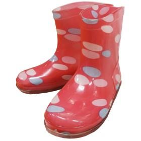 子供用長靴 レインシューズ キッズレインシューズ KeyStone キーストーン - ドット/ピンク16cm