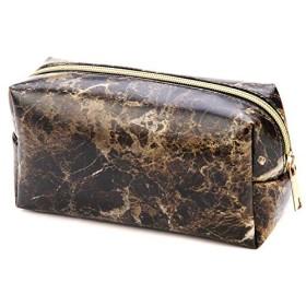 QYHT化粧品バッグ、メイクアップキット多機能旅行メイク化粧品バッグ粒子ペンシルケース大理石