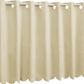 1級遮光 防炎 カフェカーテン 幅80×丈60cm アイボリー 無地