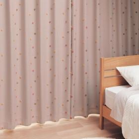 [ベルメゾン] カーテン 遮光 遮熱 防音 裏地 つき マルチピンク 約100×120(2枚)