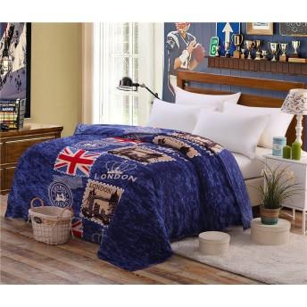 ZHIYUAN イギリスのテーマ柔らかい暖かい170 GSMフリースブランケット、200 x 230 cm