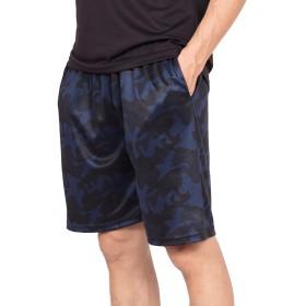スポーツ ショートパンツ メンズ ドライ 吸汗速乾 ランニング フィットネス ハーフパンツ トレーニング ジム ウェア UVカット ブラック 迷彩 2XL