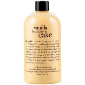 哲学バニラバースデーケーキシャンプー/シャワージェル/バブルバス480ミリリットル (Philosophy) - Philosophy Vanilla Birthday Cake Shampoo/Shower Gel/Bubble Bath 480ml [並行輸入品]