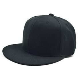 Melesh–Plain Truckerクラシックスナップバック帽子メンズレディース調節可能秋スポーツ綿スナップバック野球帽子キャップ US サイズ: L カラー: ブラック