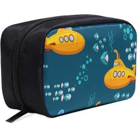 LKCDNG メイクポーチ 潜水艇 ボックス コスメ収納 化粧品収納ケース 大容量 収納 化粧品入れ 化粧バッグ 旅行用 メイクブラシバッグ 化粧箱 持ち運び便利 プロ用
