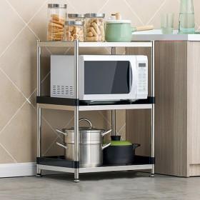 RG- ステンレス製のキッチン用棚3段マイクロ波オーブンラック収納棚床置き用多機能金属メタル多層3階55/60/70  39  77Cm (サイズ さいず : 55  39  77 cm)