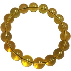 【AFP】1点もの ミャンマー産 天然琥珀 バーマイト ブレスレット 約11mm ゴールド babr-01