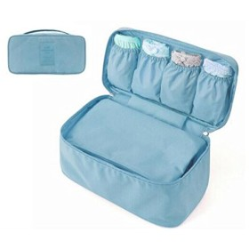 化粧品バッグ 化粧ポーチ 洗面用具 小物入れ 旅行用品 軽量バッグ レディース 防水 (ライトブルー)