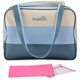マザーズバッグ ママバッグ 収納バッグ オムツ換えシート 多機能 軽量 大容量 可愛い ママに優しい (ブルー)