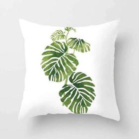 クッションカバー植物柄 2019 ファッション鮮やかな熱帯植物柄枕カバー 南国系リネン枕ケース 45 CM×45 CM飾枕カバーと座布団カバー タイプ-8