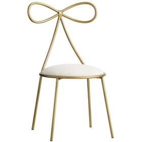ゴールドレストランの椅子、クリエイティブバタフライタイチェアレストランカフェデコレーションチェアガールベッドルームメイクアップチェアネイルチェア40  40  80CM,Gold